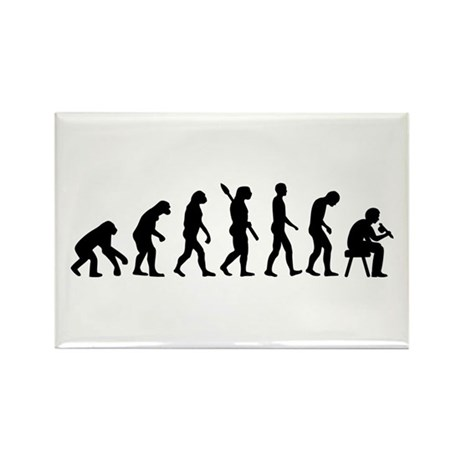 Tattoo artist evolution Rectangle Magnet (10 pack)