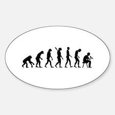 Tattoo artist evolution Sticker (Oval)