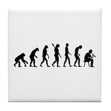 Tattoo artist evolution Tile Coaster