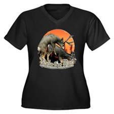 Rule the rut Women's Plus Size V-Neck Dark T-Shirt