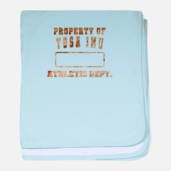 Property of Tosa Inu baby blanket