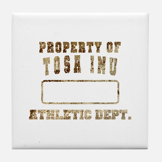 Property of Tosa Inu Tile Coaster