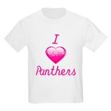 I Love/Heart Panthers T-Shirt