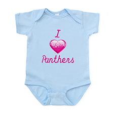 I Love/Heart Panthers Infant Bodysuit