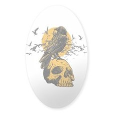 Skull and Crow Decal