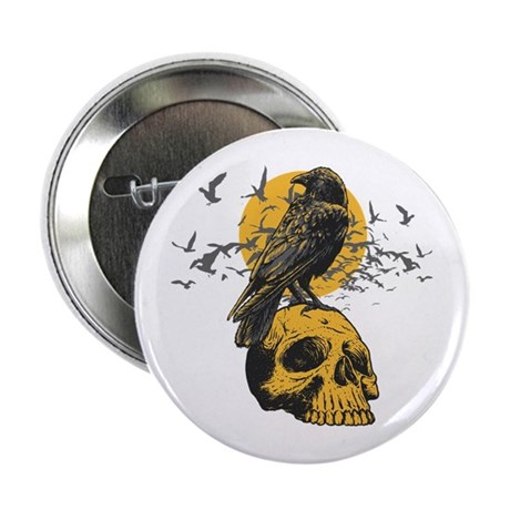 """Skull and Crow 2.25"""" Button (100 pack)"""