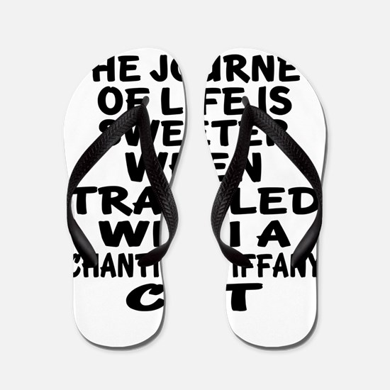 Traveled With chantilly tiffany Cat Flip Flops