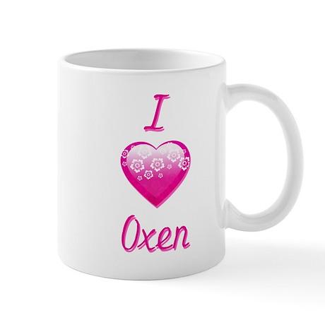I Love/Heart Oxen Mug