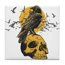 Skull and Crow Tile Coaster