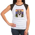 Pit Bull Meadow Women's Cap Sleeve T-Shirt