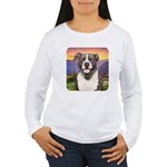 Pit Bull Meadow Women's Long Sleeve T-Shirt