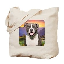 Pit Bull Meadow Tote Bag