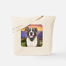 Pit Bull Meadow Tote Bag