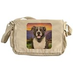 Pit Bull Meadow Messenger Bag
