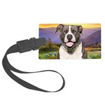 Pit Bull Meadow Large Luggage Tag