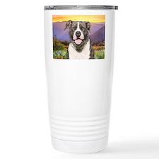 Pit Bull Meadow Ceramic Travel Mug