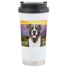 Pit Bull Meadow Travel Mug