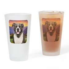 Pit Bull Meadow Drinking Glass