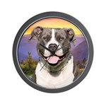 Pit Bull Meadow Wall Clock