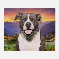 Pit Bull Meadow Throw Blanket