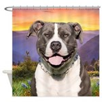 Pit Bull Meadow Shower Curtain