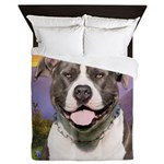 Pit Bull Meadow Queen Duvet