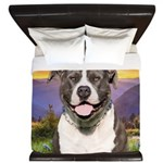 Pit Bull Meadow King Duvet