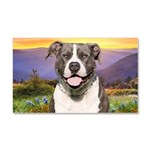 Pit Bull Meadow Car Magnet 20 x 12