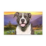 Pit Bull Meadow Rectangle Car Magnet