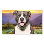 Pit Bull Meadow Sticker (Rectangle)
