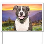 Pit Bull Meadow Yard Sign