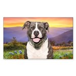 Pit Bull Meadow Sticker (Rectangle 50 pk)