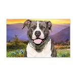 Pit Bull Meadow 20x12 Wall Decal