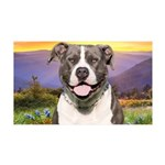 Pit Bull Meadow 35x21 Wall Decal