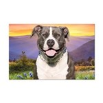 Pit Bull Meadow Mini Poster Print