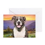 Pit Bull Meadow Greeting Cards (Pk of 20)