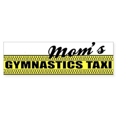 Mom's Gymnastics Taxi Vinyl Bumper Sticker