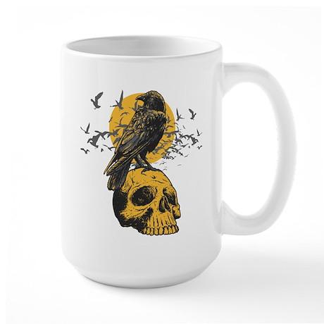 Skull and Crow Large Mug