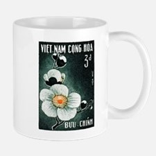 1965 Vietnam Plum Blossom Flower Postage Stamp Mug