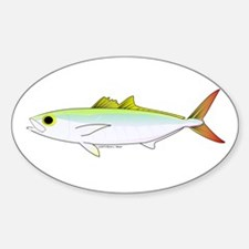 Scad Jack (Green Jack) fish Sticker (Oval)
