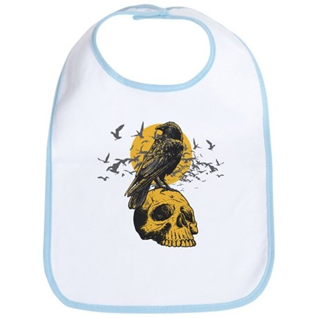 Skull and Crow Bib