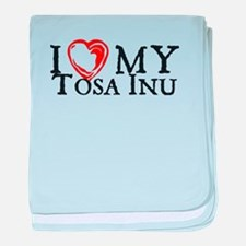 I Heart My Tosa Inu baby blanket