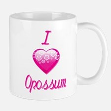 I Love/Heart Opossum Mug