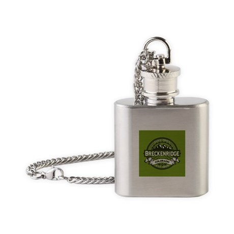 Breckenridge Green Flask Necklace