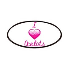 I Love/Heart Ocelots Patches