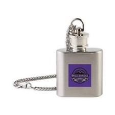 Breckenridge Purple Flask Necklace