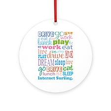 Internet Surfing Ornament (Round)