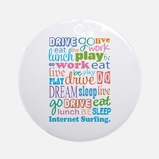 Internet Surfing Ornament (Round)