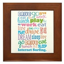 Internet Surfing Framed Tile