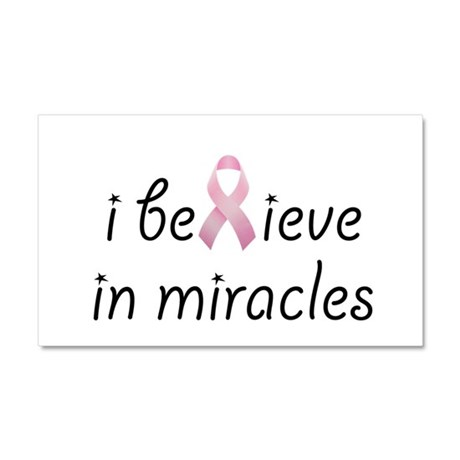 i believe in miracles Car Magnet 20 x 12